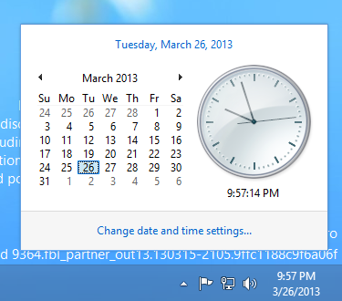 Screenshot of Windows 'Blue' Clock