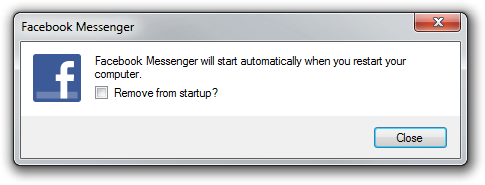 Screenshot of Facebook Messenger for Windows dialog